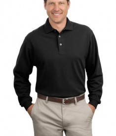 Port Authority Long Sleeve Pique Knit Polo Style K320