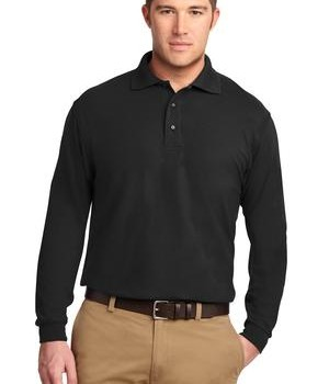 Port Authority Long Sleeve Silk Touch Polo Style K500LS 1