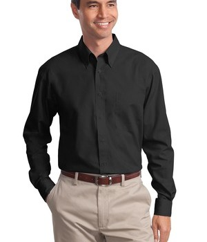 Port Authority Long Sleeve Value Poplin Shirt Style S632 1