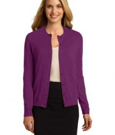 Port Authority LSW287 Ladies Cardigan Deep Berry