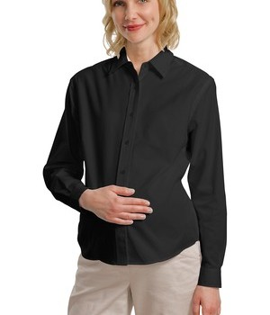 Port Authority Maternity Long Sleeve Easy Care Shirt Style L608M 1
