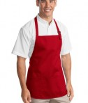 Port Authority Medium Length Apron with Pouch Pockets Style A510