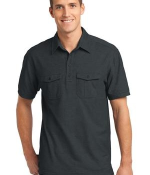 Port Authority Oxford Pique Double Pocket Polo Style K557 1