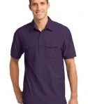 Port Authority Oxford Pique Double Pocket Polo Style K557