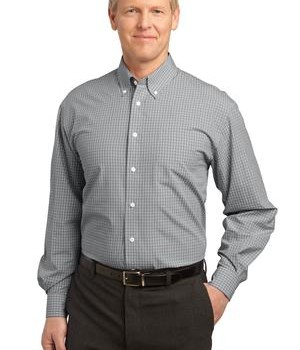 Port Authority Plaid Pattern Easy Care Shirt Style S639 1