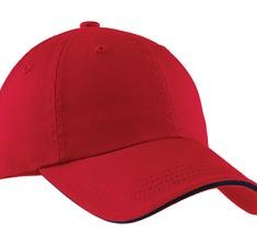 Port Authority Sandwich Bill Cap with Striped Closure Style C830