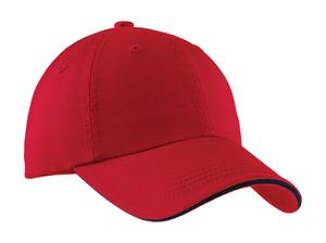 Port Authority Sandwich Bill Cap with Striped Closure Style C830 1