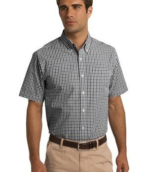Port Authority Short Sleeve Gingham Easy Care Shirt Style S655 1