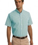 Port Authority Short Sleeve Gingham Easy Care Shirt Style S655