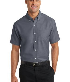Port Authority Short Sleeve SuperPro Oxford Shirt Style S659 1
