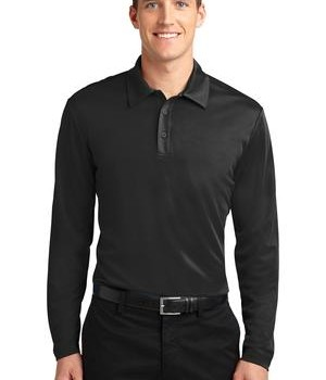 Port Authority Silk Touch Performance Long Sleeve Polo Style K540LS 1