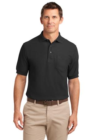 Port Authority Silk Touch Polo with Pocket Style K500P 1