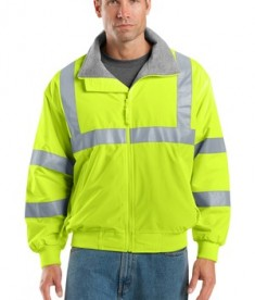 Port Authority SRJ754 Enhanced Visibility Reflective Taping Challenger Jacket Safety Yellow