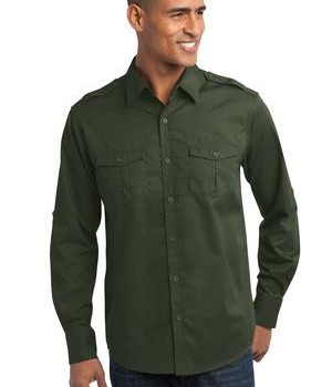 Port Authority Stain-Resistant Roll Sleeve Twill Shirt Style S649 1