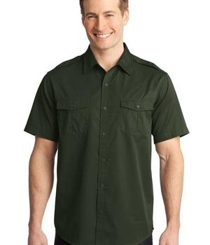 Port Authority Stain-Resistant Short Sleeve Twill Shirt Style S648 1