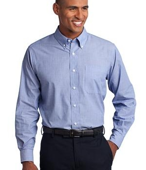 Port Authority Tall Crosshatch Easy Care Shirt Style TLS640 1