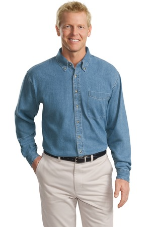 Port Authority Tall Long Sleeve Denim Shirt Style TLS600