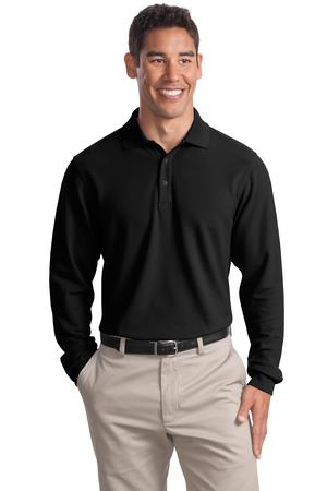 Port Authority Tall Long Sleeve EZCotton Pique Polo Style TLK800LS 1