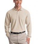 Port Authority Tall Long Sleeve EZCotton Pique Polo Style TLK800LS