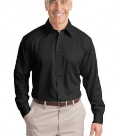Port Authority Tall Long Sleeve Non-Iron Twill Shirt Style TLS638