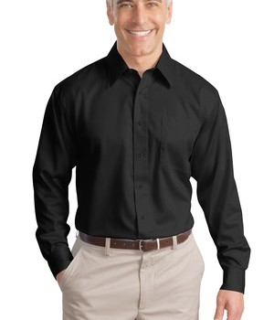 Port Authority Tall Long Sleeve Non-Iron Twill Shirt Style TLS638 1