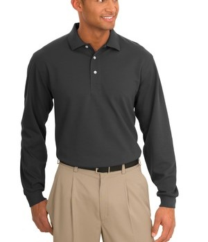 Port Authority Tall Rapid Dry Long Sleeve Polo Style TLK455LS 1