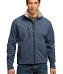 Port Authority TLJ790 Tall Size Glacier Soft Shell Jacket Atlantic Blue/Chrome