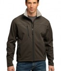 Port Authority TLJ790 Tall Size Glacier Soft Shell Jacket Brown/Chrome