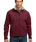 Port Authority TLJ790 Tall Size Glacier Soft Shell Jacket Caldera Red/Chrome