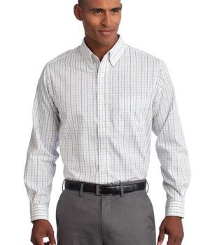 Port Authority Tall Tattersall Easy Care Shirt Style TLS642 1