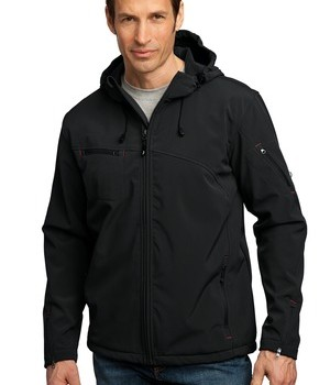 Port Authority Textured Hooded Soft Shell Jacket Style J706 1