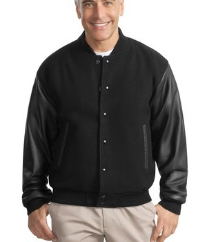 Port Authority Wool and Leather Letterman Jacket Style J783 1