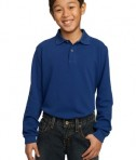 Port Authority Youth Long Sleeve Pique Knit Polo Style Y320