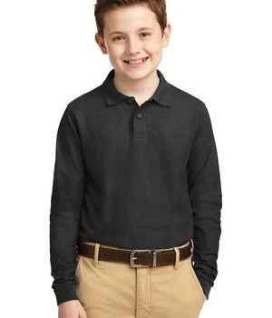 Port Authority Youth Long Sleeve Silk Touch Polo Style Y500LS 1