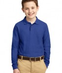 Port Authority Youth Long Sleeve Silk Touch Polo Style Y500LS