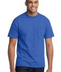 Port & Company - 50/50 Cotton/Poly T-Shirt with Pocket Style PC55P
