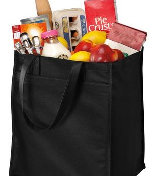 Port & Company – Extra-Wide Polypropylene Grocery Tote Style B160 1