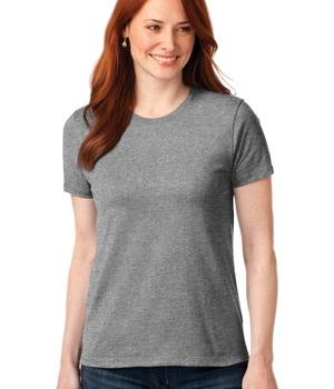 Port & Company Ladies 50/50 Cotton/Poly T-Shirt Style LPC55 1