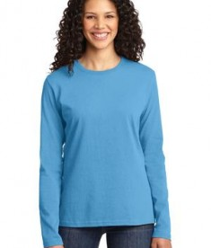 Port & Company Ladies Long Sleeve 5.4-oz 100% Cotton T-Shirt Style LPC54LS