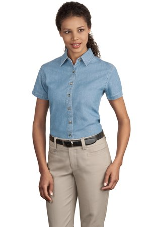 Port & Company - Ladies Short Sleeve Value Denim Shirt Style LSP11