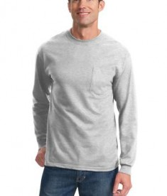 Port & Company - Long Sleeve Essential T-Shirt with Pocket Style PC61LSP