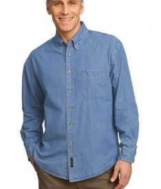 Port & Company - Long Sleeve Value Denim Shirt Style SP10