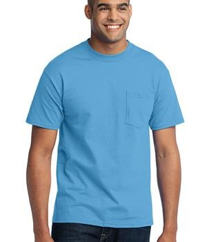 Port & Company Tall 50/50 Cotton/Poly T-Shirt with Pocket Style PC55PT 1