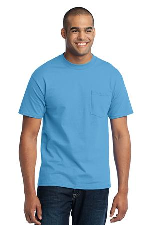 Port & Company Tall 50/50 Cotton/Poly T-Shirt with Pocket Style PC55PT
