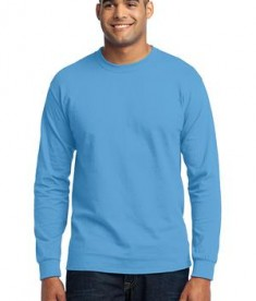 Port & Company Tall Long Sleeve 50/50 Cotton/Poly T-Shirt Style PC55LST