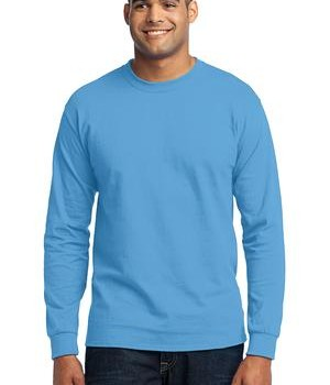 Port & Company Tall Long Sleeve 50/50 Cotton/Poly T-Shirt Style PC55LST 1