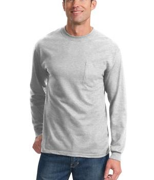Port & Company Tall Long Sleeve Essential T-Shirt with Pocket Style PC61LSPT 1