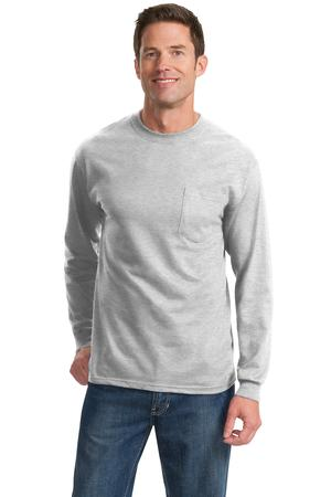Port & Company Tall Long Sleeve Essential T-Shirt with Pocket Style PC61LSPT