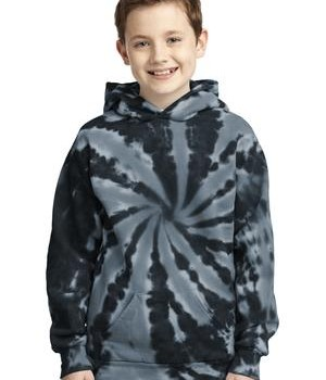 Port & Company Youth Essential Tie-Dye Pullover Hooded Sweatshirt Style PC146Y 1