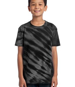 Port & Company – Youth Essential Tiger Stripe Tie-Dye Tee Style PC148Y 1